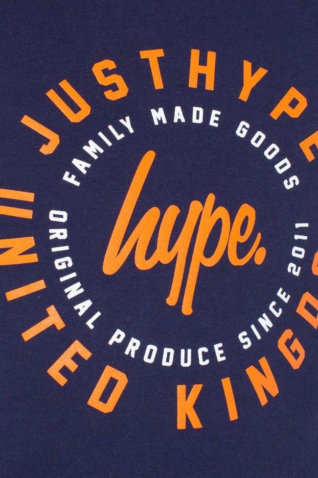 HYPE NAVY COG KIDS T-SHIRT