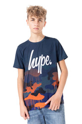 HYPE CAMO DRIPS FADE KIDS T-SHIRT