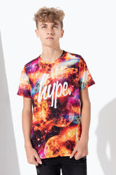 HYPE GALAXY MOONS SCRIPT KIDS T-SHIRT