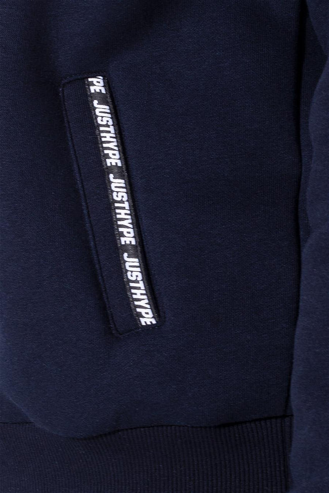 HYPE NAVY MICRO TAPING KIDS PULLOVER HOODIE