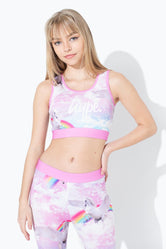 HYPE UNICORN CLOUDS SCRIPT KIDS BRALET