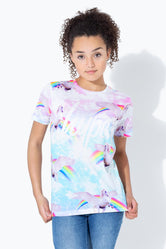 HYPE UNICORN CLOUDS SCRIPT KIDS T-SHIRT