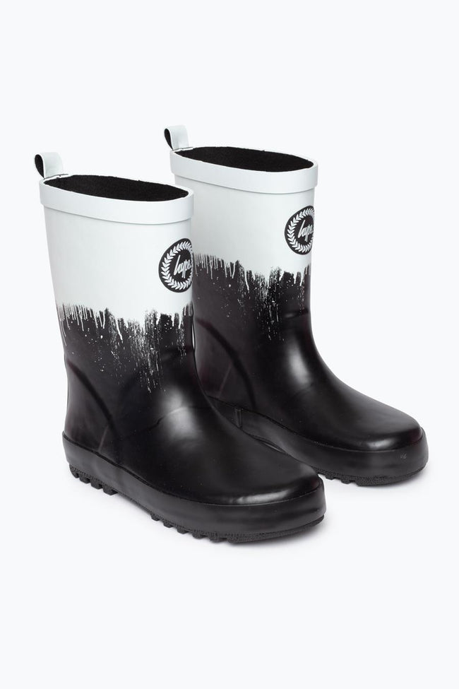 HYPE BLACK DRIP KIDS WELLIES