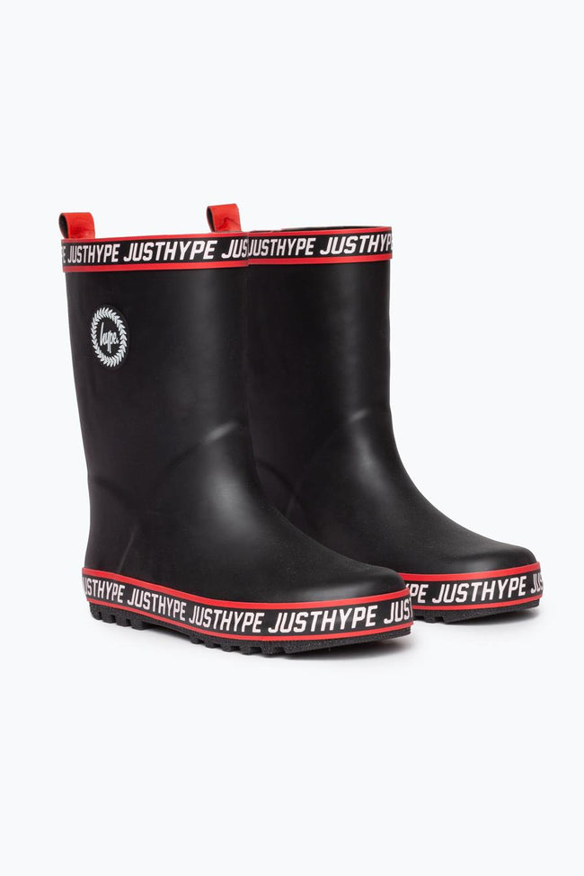 Hype Black Tape Kids Wellies