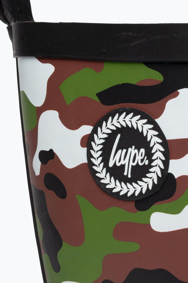 HYPE GREEN CAMO KIDS WELLIES