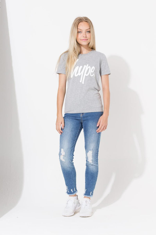 Hype Grey Script Kids T-Shirt