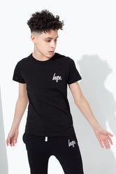 HYPE BLACK MINI SCRIPT KIDS T-SHIRT