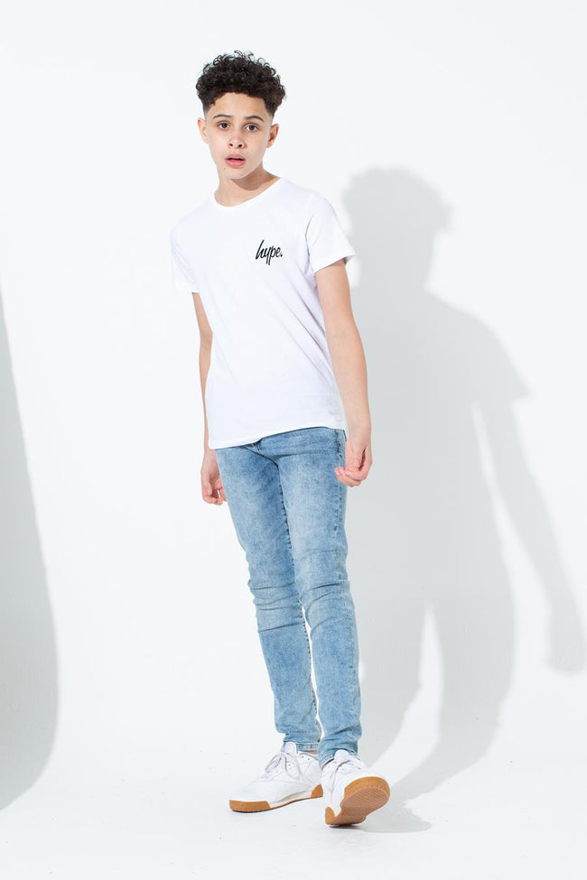 HYPE WHITE MINI SCRIPT KIDS T-SHIRT