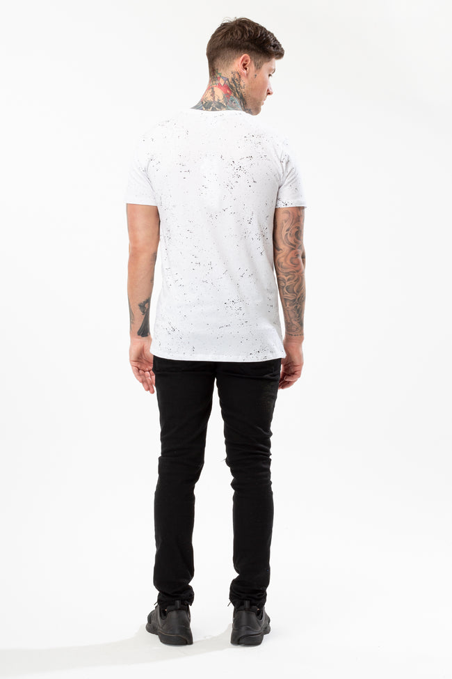 HYPE WHITE AOP SPECKLE MENS T-SHIRT