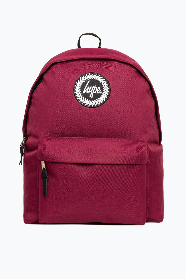 HYPE BURGUNDY BADGE BACKPACK