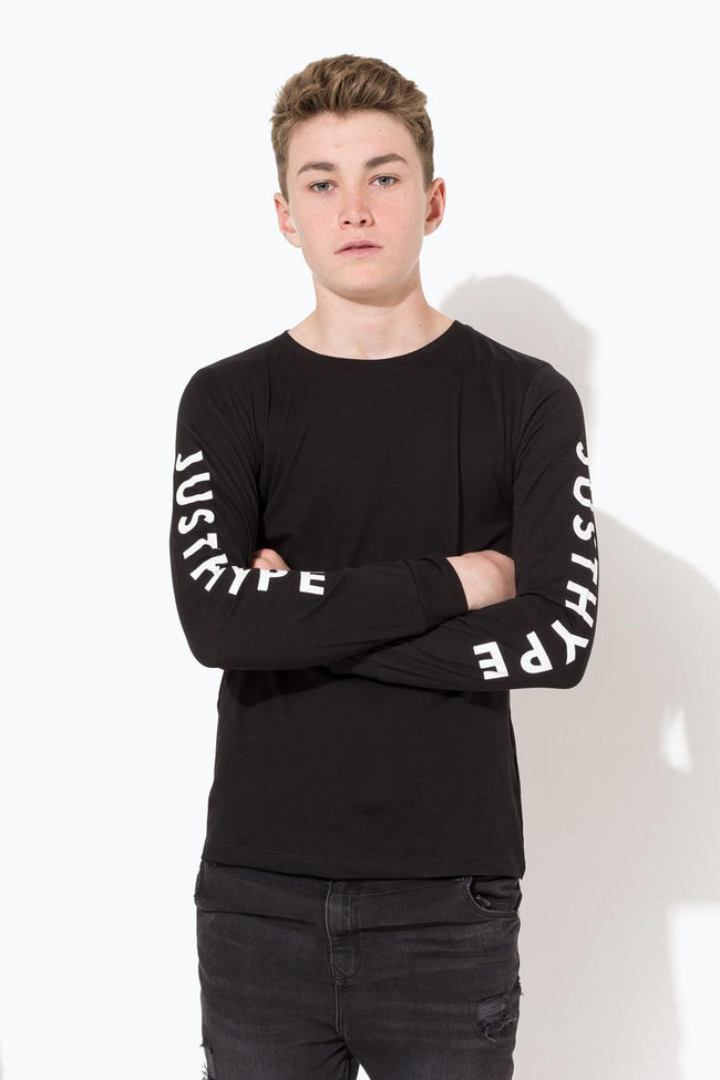 HYPE BLACK JUSTHYPE KIDS L/S T-SHIRT