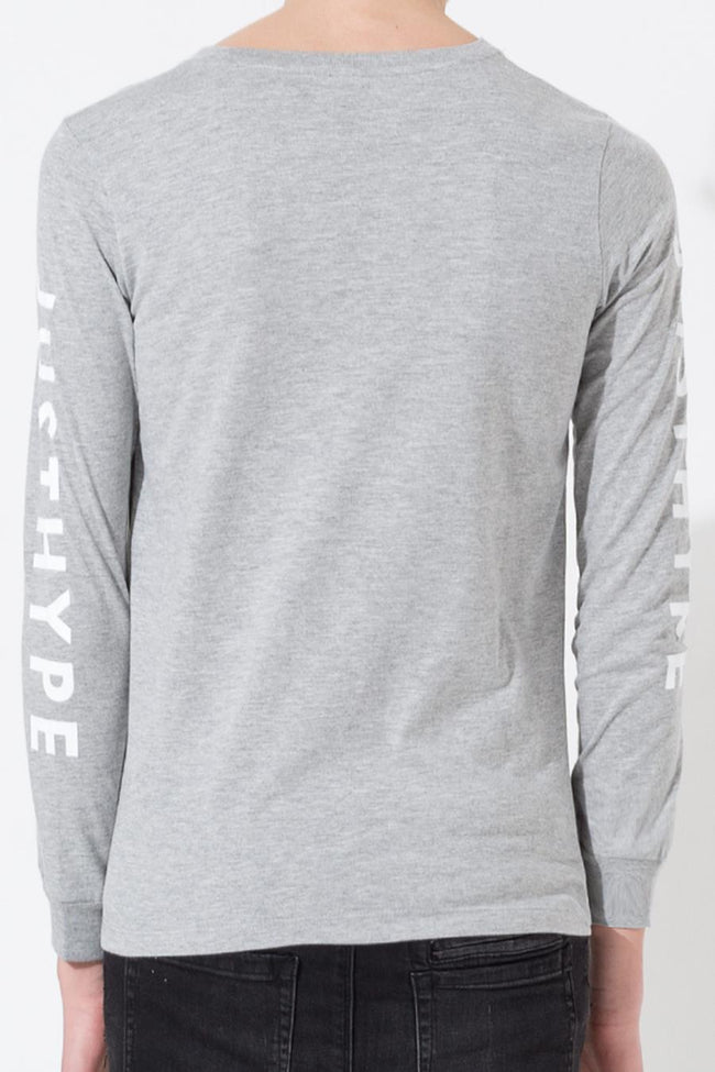 HYPE GREY JUSTHYPE KIDS L/S T-SHIRT