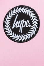 HYPE BABY PINK BADGE POM POM  BACKPACK