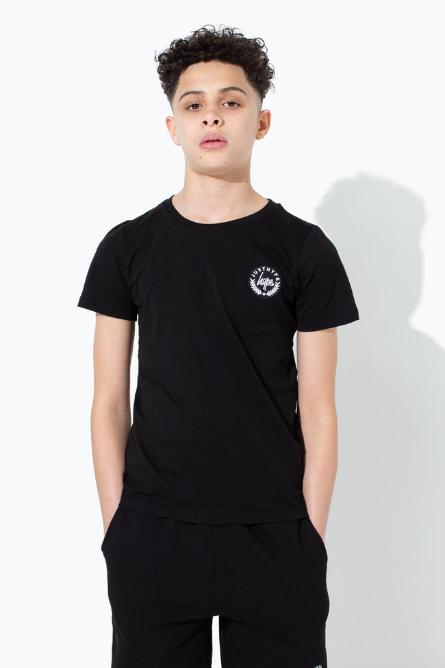 HYPE BLACK CREST KIDS T-SHIRT