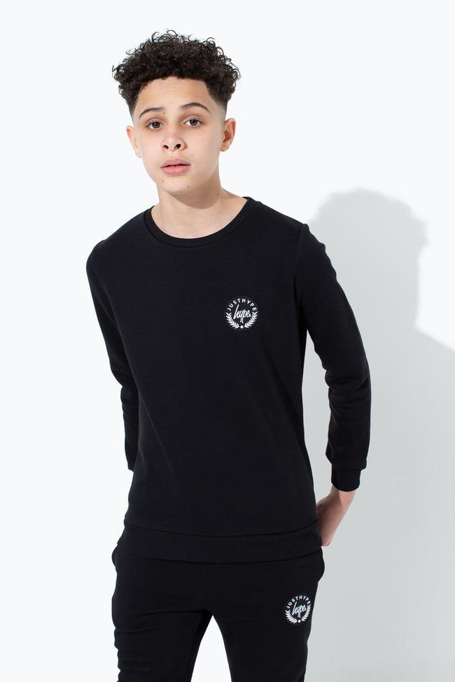 HYPE BLACK CREST KIDS CREWNECK