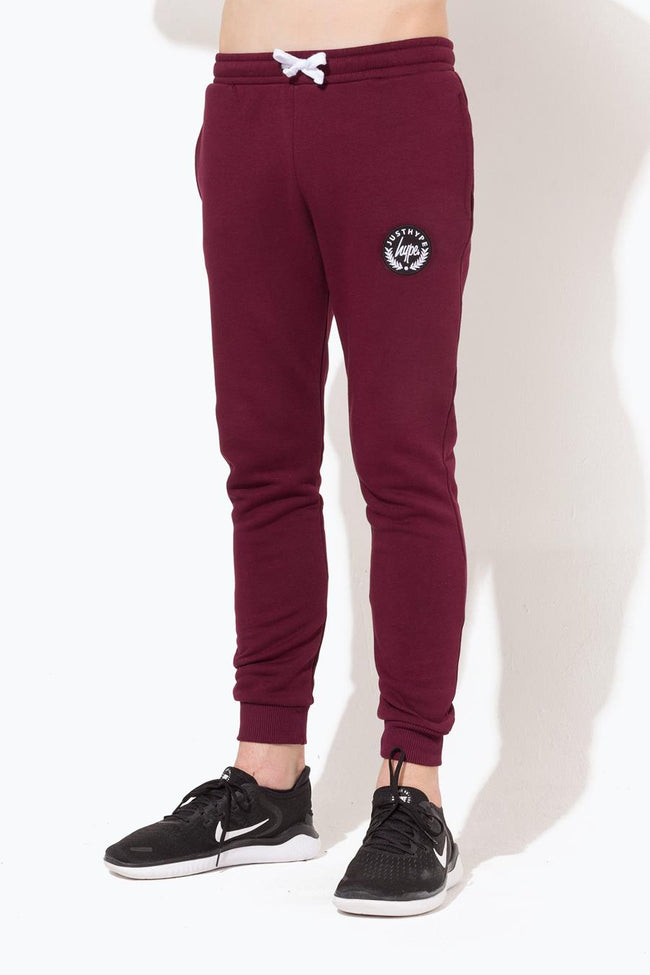 HYPE BURGUNDY CREST KIDS JOGGERS