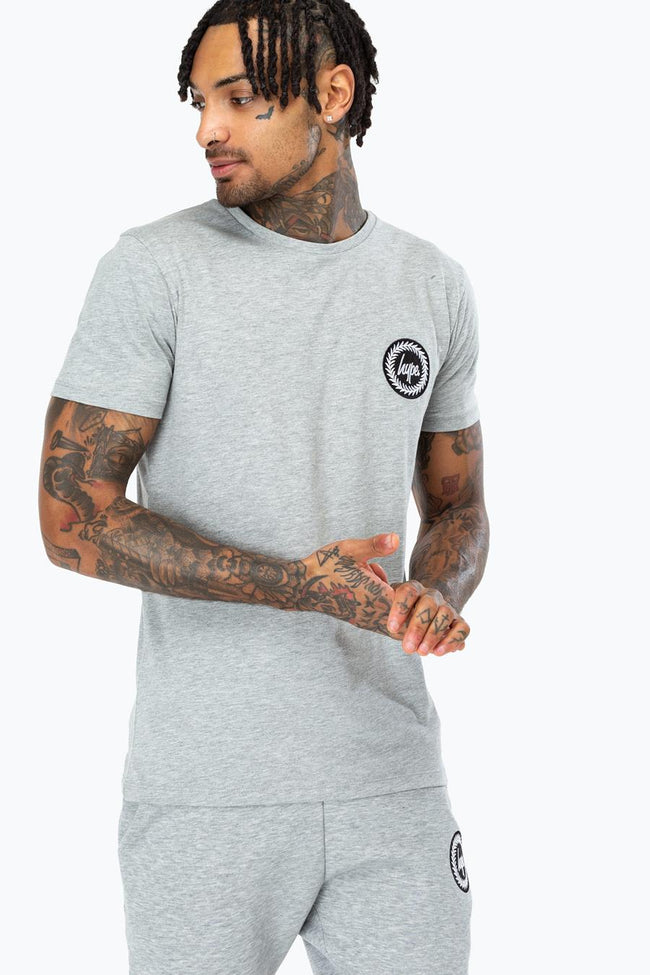 HYPE GREY CREST MENS T-SHIRT
