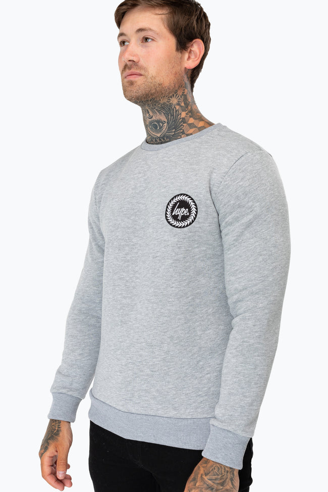 HYPE GREY CREST MENS CREW NECK