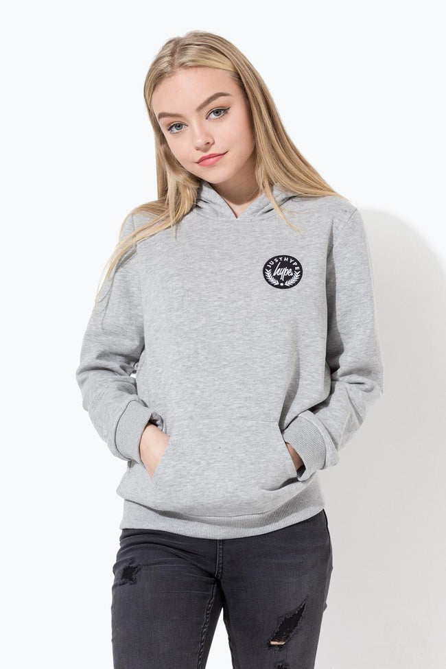 HYPE GREY CREST KIDS PULLOVER HOODIE