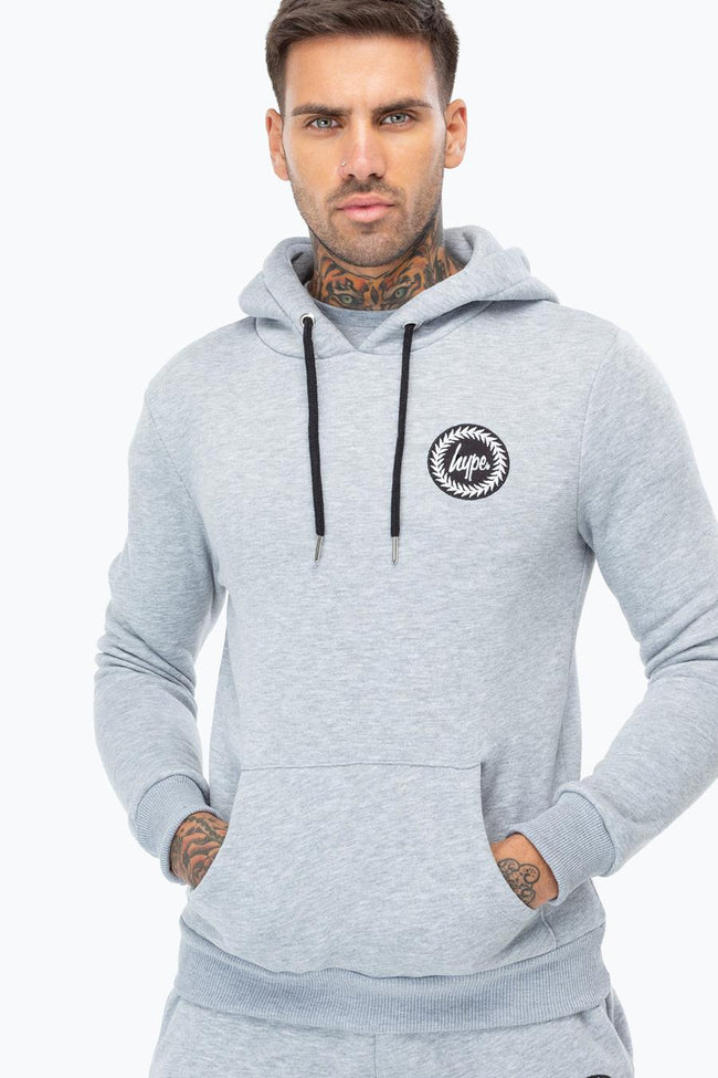 HYPE GREY CREST MENS PULLOVER HOODIE