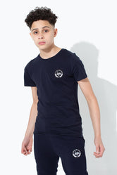 HYPE NAVY CREST KIDS T-SHIRT
