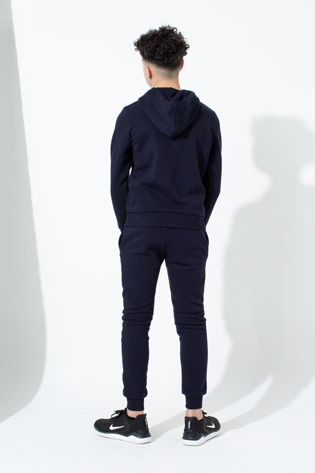 HYPE NAVY CREST KIDS PULLOVER HOODIE