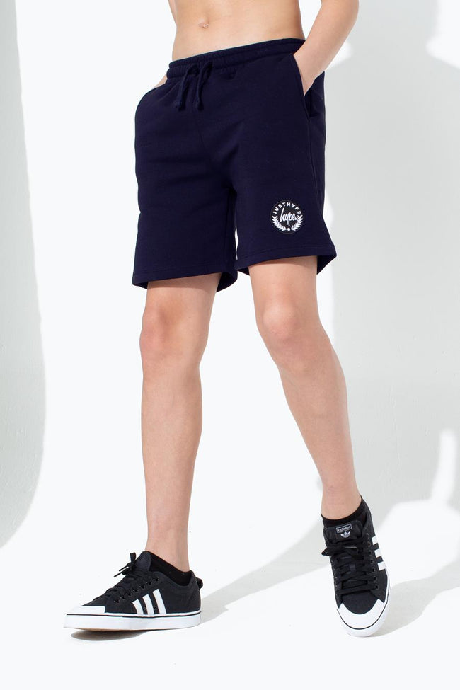 HYPE NAVY CREST KIDS SHORTS