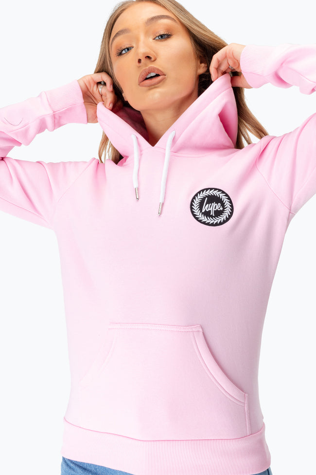 HYPE PINK CREST WOMENS PULLOVER HOODIE