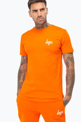 HYPE ORANGE MINI SCRIPT MENS T-SHIRT