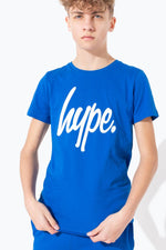 HYPE BLUE HYPE SCRIPT KIDS T-SHIRT