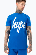 HYPE BLUE SCRIPT MENS T-SHIRT