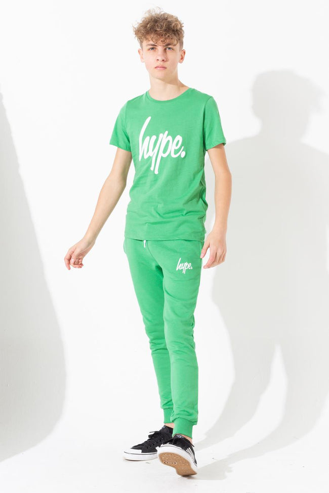 HYPE GREEN HYPE SCRIPT KIDS T-SHIRT
