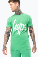 HYPE GREEN SCRIPT MENS T-SHIRT