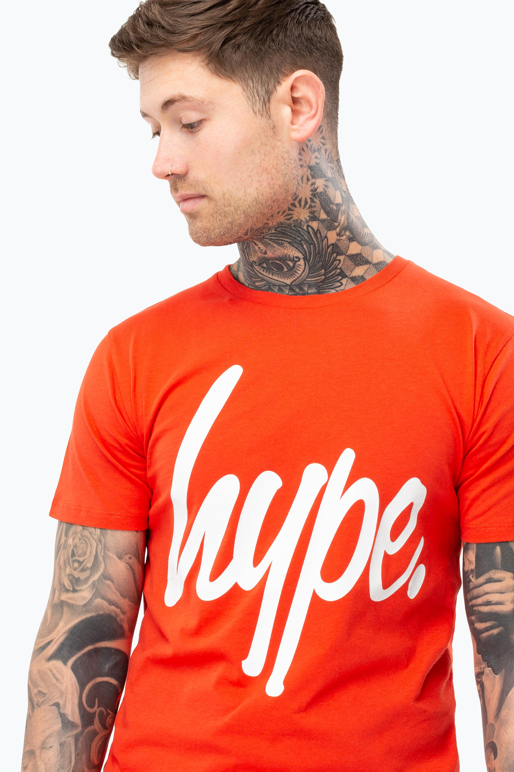 Hype Red Script Mens T-Shirt   Size Small