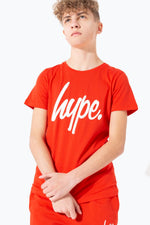 HYPE RED HYPE SCRIPT KIDS T-SHIRT