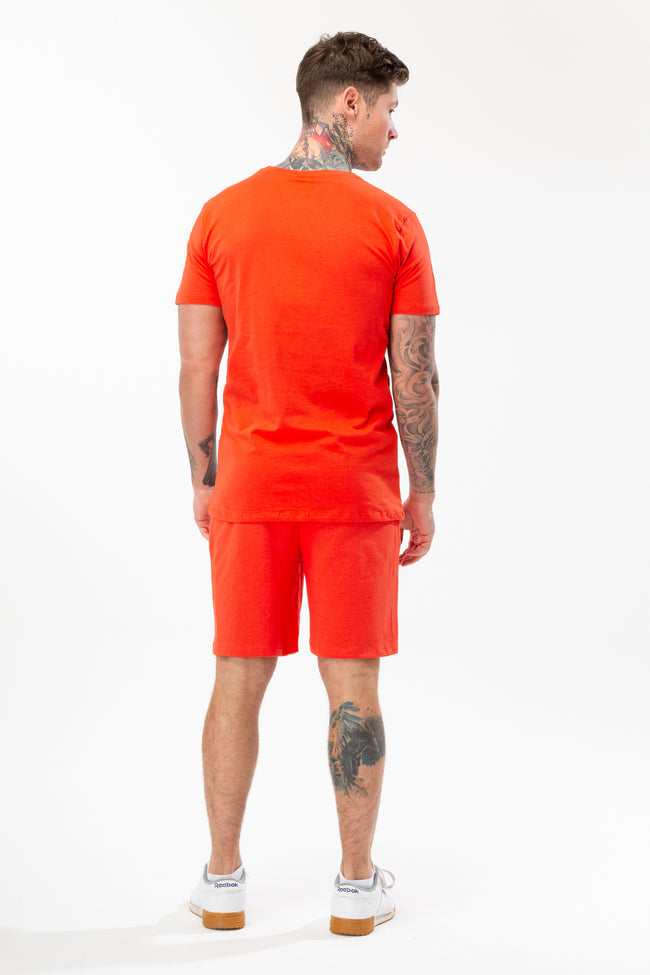 Hype Red Script T-Shirt and Short Set