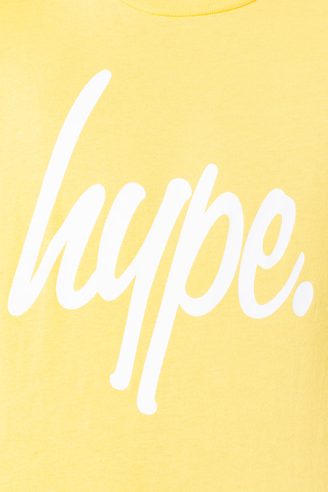 HYPE YELLOW HYPE SCRIPT KIDS T-SHIRT