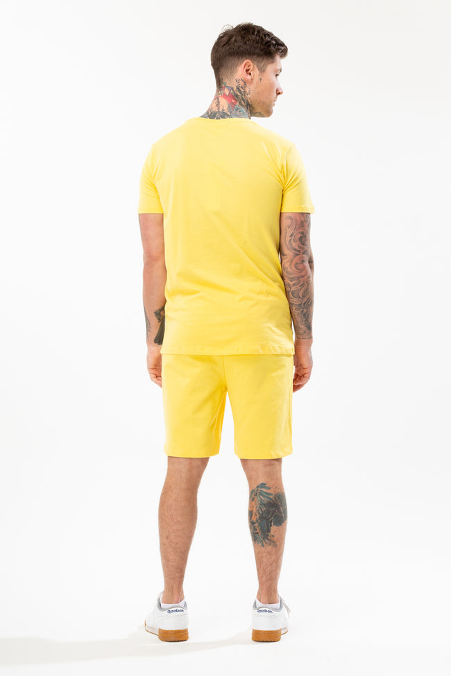 HYPE YELLOW SCRIPT MENS T-SHIRT
