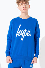 HYPE BLUE HYPE SCRIPT KIDS CREW NECK
