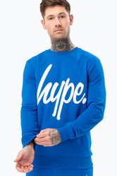 HYPE BLUE SCRIPT MENS CREW NECK