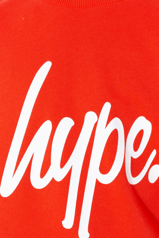 HYPE RED HYPE SCRIPT KIDS CREW NECK