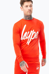 HYPE RED SCRIPT MENS CREW NECK