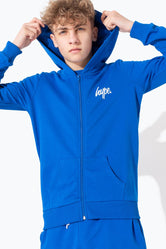 HYPE BLUE MINI SCRIPT KIDS ZIP UP HOODIE