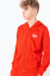 HYPE RED MINI SCRIPT KIDS ZIP HOODIE