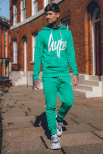 HYPE GREEN SCRIPT MENS JOGGERS