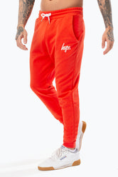 HYPE RED SCRIPT MENS JOGGERS