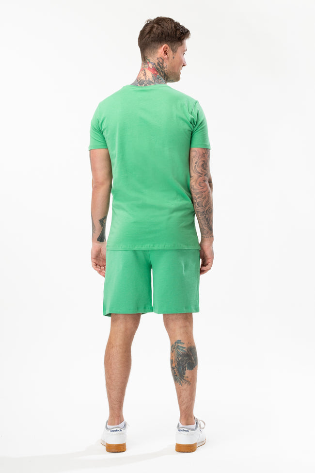 HYPE GREEN SCRIPT MENS SHORTS