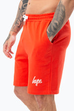 HYPE RED SCRIPT MENS SHORTS