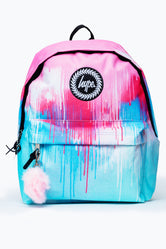 HYPE PASTEL TIE DYE DRIPS POM POM BACKPACK