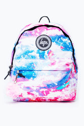 HYPE RAINBOW SPARKLE POM POM BACKPACK